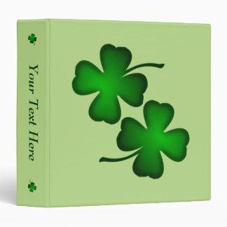 Four Leaf Clover Personalized Binder