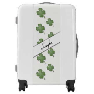 Four Leaf Clover Personalized Luggage