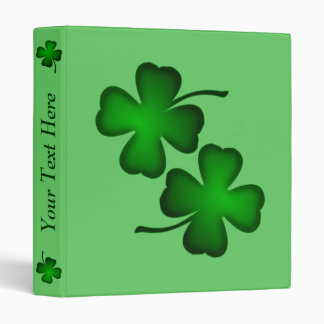 Four Leaf Clover Personalized Three Ring Binder
