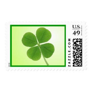 four leaf clover postage stamp