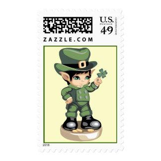 Four Leaf Clover Postage Stamps
