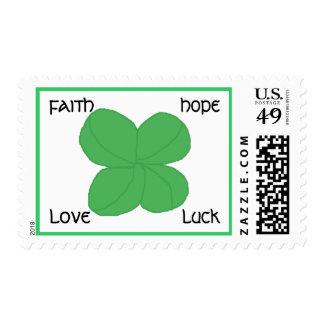 Four-leaf Clover - postage stamps