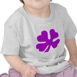 Four Leaf Clover - Purple Tshirt