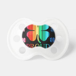Four leaf clover Rainbow RoyGeeBiv - LGBT Baby Pacifiers