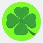 Four Leaf Clover Round Stickers