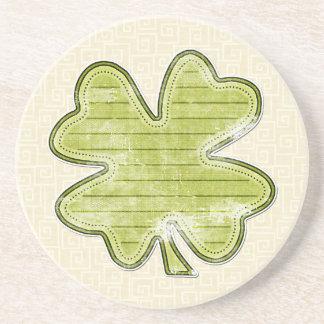 Four Leaf Clover Sandstone Coaster