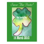 Four Leaf Clover - Save The Date Postcard