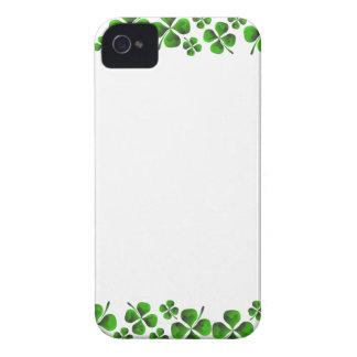 Four Leaf Clover Shamrock Background iPhone 4 Case