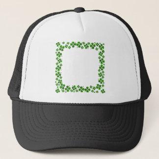 Four Leaf Clover Shamrock Background Trucker Hat