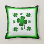 Four Leaf Clover Shamrock Mojo Pillow