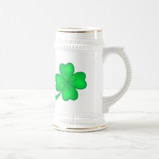 Four-leaf clover sheet beer stein