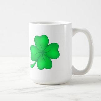 Four-leaf clover sheet coffee mug