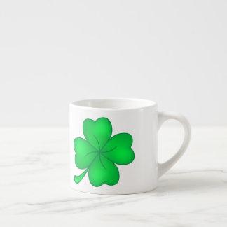 Four-leaf clover sheet espresso cup