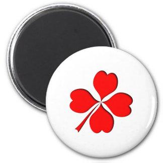 four-leaf clover sheet heart magnet