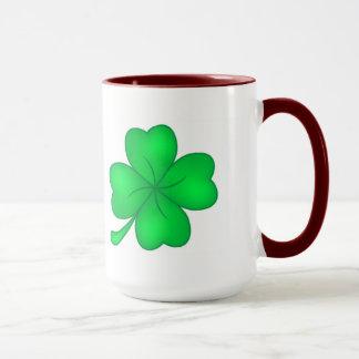 Four-leaf clover sheet mug