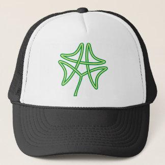 four-leaf clover sheet of Celtic knots Trucker Hat