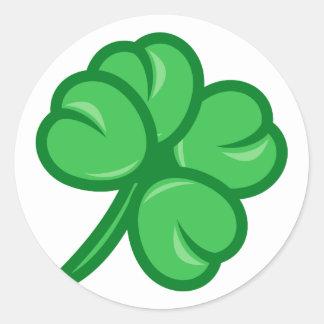 four-leaf clover sheet quadrifoil shame skirt classic round sticker