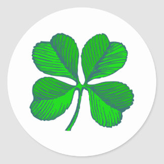 four-leaf clover sheet shame skirt classic round sticker