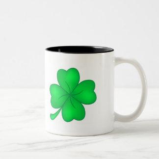Four-leaf clover sheet Two-Tone coffee mug
