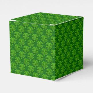 Four Leaf Clover-Square Party Favor Box
