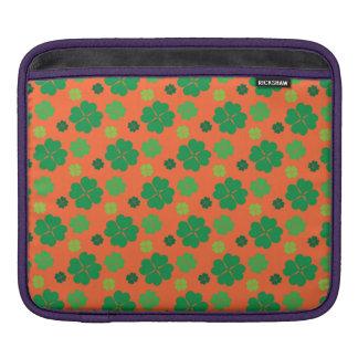 Four Leaf Clover St Paddys Day Green iPad Sleeve