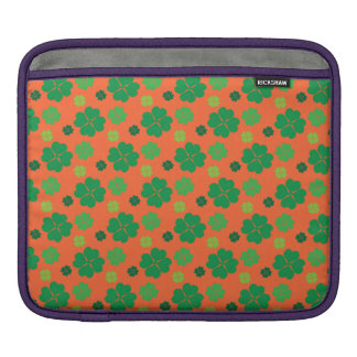 Four Leaf Clover St Paddys Day Green iPad Sleeve