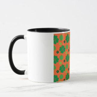 Four Leaf Clover St Paddys Day Green Mug
