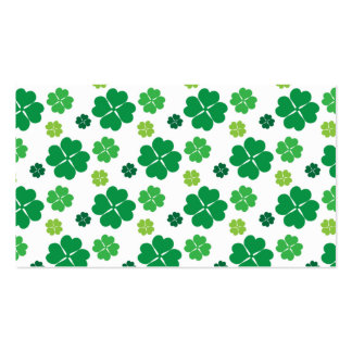 Four Leaf Clover St Patricks Day Business Card Template