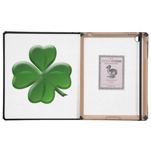 Four Leaf Clover - St Patrick's Day Button iPad Folio Cases