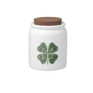 Four Leaf Clover St. Patrick's Day Candy Jars