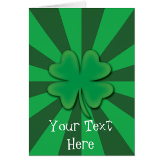 Four Leaf Clover St.Patrick's Day Card
