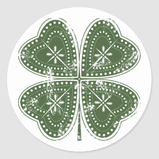 Four Leaf Clover St. Patrick's Day Classic Round Sticker