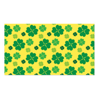 Four Leaf Clover St Patricks Day Green GOLD Business Card