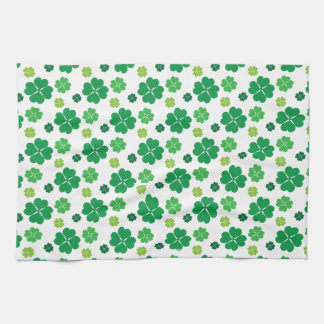 Four Leaf Clover St Patricks Day Kitchen Towel