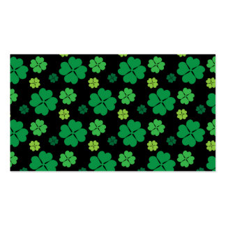 Four Leaf Clover St Patricks Day Luck Business Card Templates