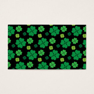 Four Leaf Clover St Patricks Day Luck Business Card