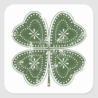 Four Leaf Clover St. Patrick's Day Square Sticker