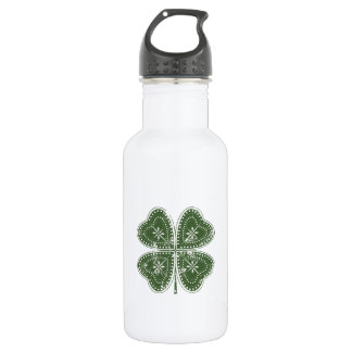 Four Leaf Clover St. Patrick's Day Stainless Steel Water Bottle
