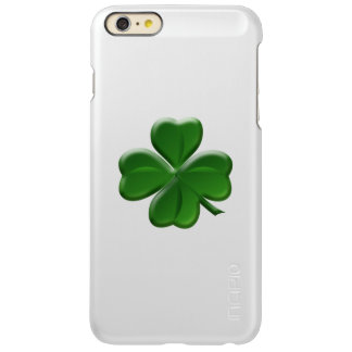 Four Leaf Clover - St Patrick's Day Symbol Incipio Feather Shine iPhone 6 Plus Case