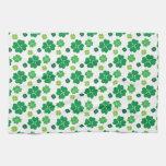 Four Leaf Clover St Patricks Day Towels