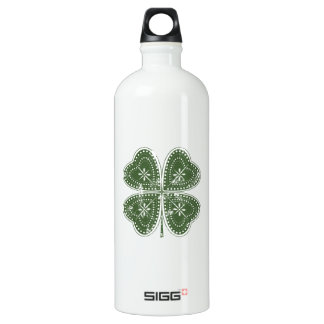 Four Leaf Clover St. Patrick's Day Water Bottle