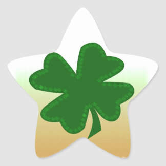 Four Leaf Clover Star Sticker