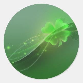 Four Leaf Clover Round Sticker