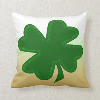 Four Leaf Clover Throw Pillows