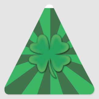 Four leaf clover triangle stickers