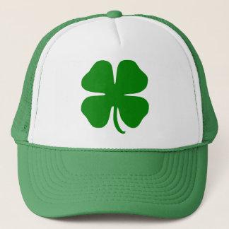 Four leaf clover trucker hat