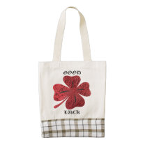 Four Leaf Clover Zazzle HEART Tote Bag