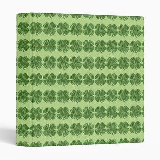 Four Leaf Clovers Vinyl Binder