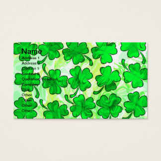 FOUR LEAF CLOVERS Business Cards