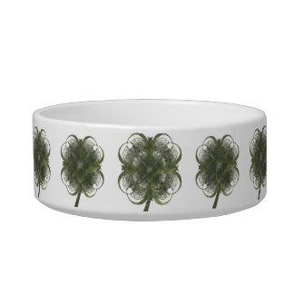 Four Leaf Clovers Fractal Art Design Bowl